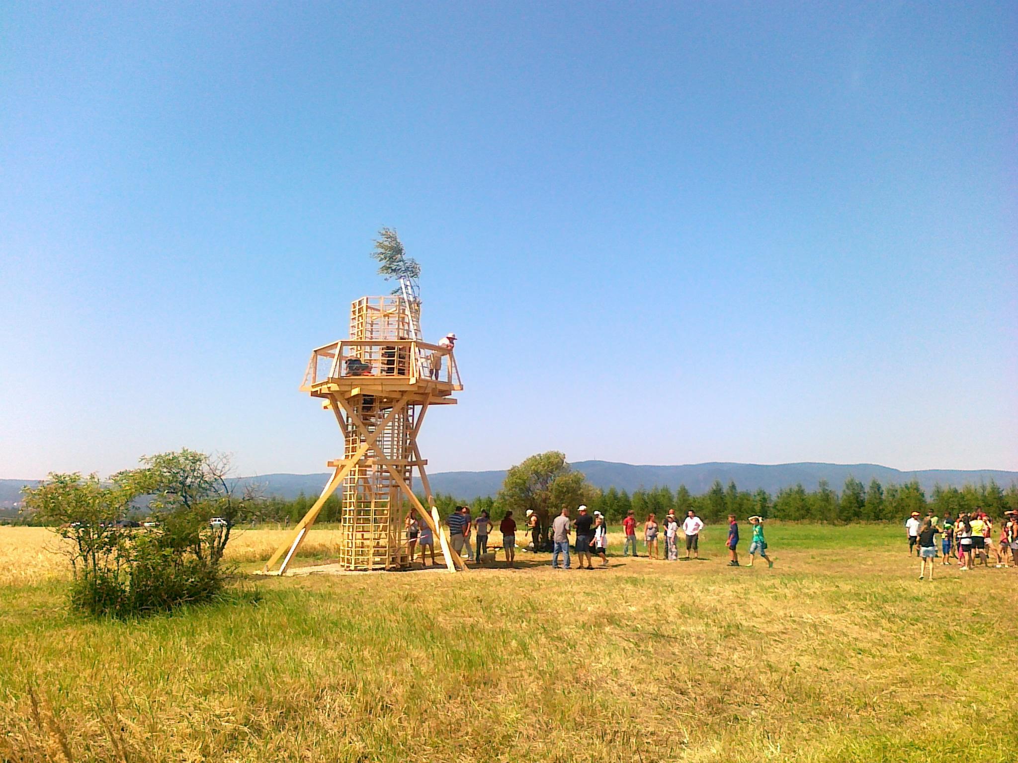 Maják Strupčice před otevřením 2012